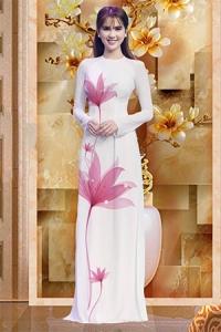 Vải áo dài in lụa 3D mẫu VAD-03