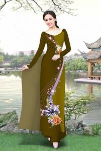 Vải áo dài in lụa 3D mẫu VAD-05