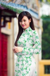 Vải áo dài in lụa 3D mẫu VAD-09