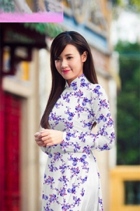 Vải áo dài in lụa 3D mẫu VAD-10