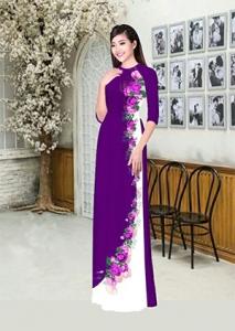 Vải áo dài in lụa 3D mẫu VAD-12