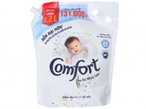 Nước xả vải Comfort Dịu nhẹ cho da nhạy cảm hương phấn 3.2L