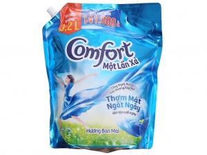 Nước xả xải Comfort đậm đặc một lần xả hương Ban Mai túi 3.2L