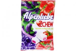 Kẹo mềm Alpenliebe 2 Chew hương Dâu Nho 73.5g