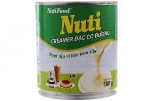 Lô 2 sữa đặc có đường Nuti xanh 380g