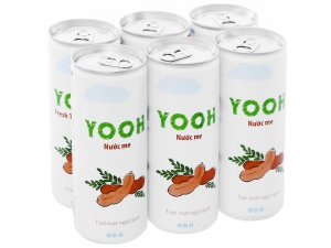 6 lon nước ép cam và cà rốt Yooh 240ml