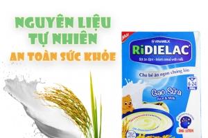 Bột ăn dặm Ridielac Gạo Sữa cho trẻ từ 6-24 tháng 200g
