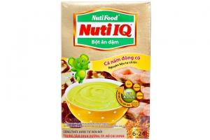 Bột ăn dặm Nuti IQ Cá nấm đông cô cho trẻ từ 6-24 tháng 200g