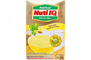 Bột ăn dặm Nuti IQ Gạo Sữa cho trẻ từ 6-24 tháng 200g
