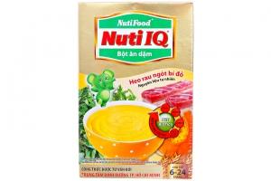 Bột ăn dặm Nuti IQ Heo, Rau ngót, Bí đỏ cho trẻ từ 6-24 tháng 200g