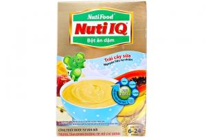 Bột ăn dặm Nuti IQ Trái Cây Sữa cho trẻ từ 6-24 tháng 200g