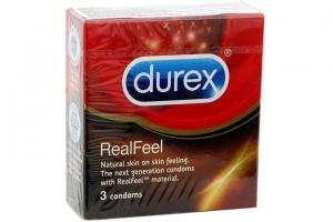 Bao cao su Durex Real Feel 56mm (hộp 3 cái)