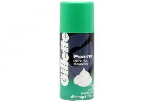 Bọt cạo râu Gillette Foamy hương Bạc Hà 175g