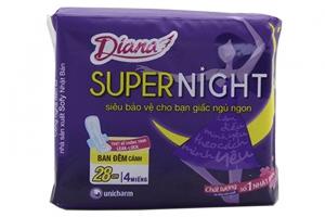Băng vệ sinh Diana Super Night siêu bảo vệ có cánh 4 miếng