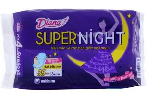 Băng vệ sinh ban đêm Diana siêu bảo vệ có cánh 3 miếng
