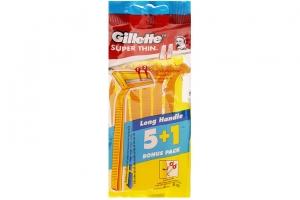 Dao cạo râu Gillette cán vàng gói 6 cây