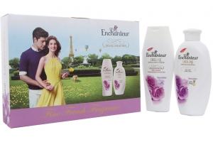 Hộp quà Dầu gội và Sữa tắm Enchanteur Sensation 180g