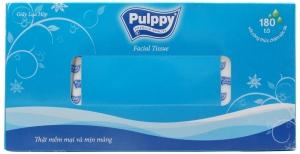 Khăn giấy lụa Pulppy hộp 180 tờ 2 lớp
