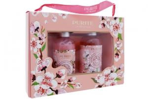 Hộp quà Dầu gội và Sữa tắm Purite Hương hoa Anh Đào 250 ml