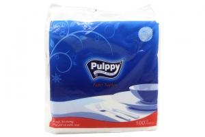 Khăn ăn Pulppy Paper Napkin gói 100 tờ 1 lớp