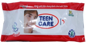 Khăn ướt Teen Care đỏ gói 30 tờ