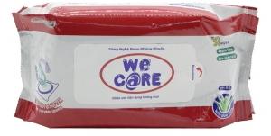 Khăn ướt We Care không mùi gói 30 tờ