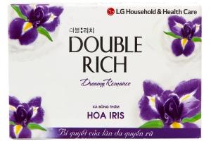 Xà bông cục Double Rich hương hoa Iris 90g