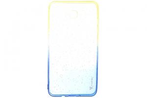 Ốp lưng Galaxy J7 (2016) Nhựa dẻo Shining Powder Xmobile Vàng Xanh dương
