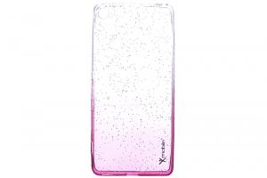 Ốp lưng Xperia XA Nhựa dẻo Shining Powder Xmobile Nude Đỏ