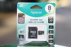 Thẻ nhớ microSD 8GB class 10 Apacer UHS-1 (có Adapter)