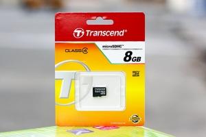 Thẻ nhớ Micro SDHC 8GB Class 4 Transcend