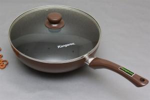 Chảo chống dính sâu lòng nắp kính Kangaroo KG919M 28cm