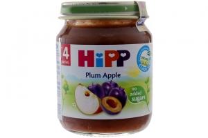 Dinh dưỡng đóng lọ HIPP mận, táo tây lọ 125g