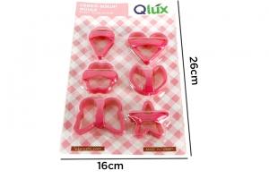 Khuôn bánh nhựa chữ nhật 6 cái QLux L-163