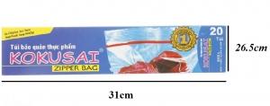 Túi zipper Kokusai L20 31x26.5cm 20 túi/hộp