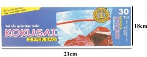 Túi zipper Kokusai M30 18x21cm 30 túi/hộp
