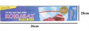Túi zipper Kokusai XL10 28x36cm 10 túi/hộp