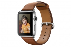 Apple Watch S2 38mm mặt thép không gỉ, dây da