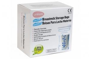 Túi trữ sữa tiết kiệm Compact - Unimom UM870268 (60 túi-210ml )