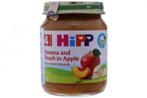 Dinh dưỡng đóng lọ HiPP Chuối, Đào lọ 125g