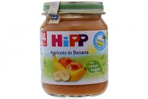 Dinh dưỡng đóng lọ HiPP chuối mơ lọ 125g