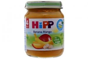 Dinh dưỡng đóng lọ HIPP Chuối, Xoài lọ 125g