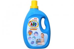 Nước giặt xả quần áo trẻ sơ sinh Pureen A-B-D chai 2 lít