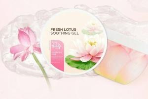 Gel dưỡng da chiết xuất hoa sen TheFaceShop Jeju Lotus Fresh Soothing Gel 285ml