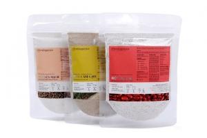 Combo 3 loại bột Đậu Đỏ, Cám Gạo Và Yến Mạch Milaganics 100g