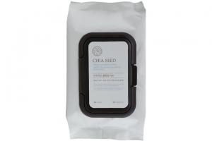 Khăn giấy tẩy trang cung cấp nước TheFaceShop Chia Seed Fresh Cleansing Wipes 294g
