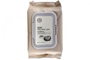 Khăn giấy tẩy trang thanh lọc lỗ chân lông TheFaceShop JeJu Volcanic Lava Pore Cleansing Wipes 50 tờ