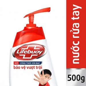 Nước rửa tay Lifebuoy bảo vệ vượt trội 10 lần chai 500ml