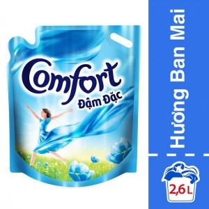 Nước Xả Vải Comfort Đậm Đặc Hương Ban Mai 2.6L