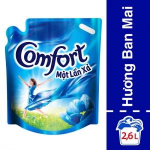 Nước xả Comfort đậm đặc hương Ban mai túi 2.6L